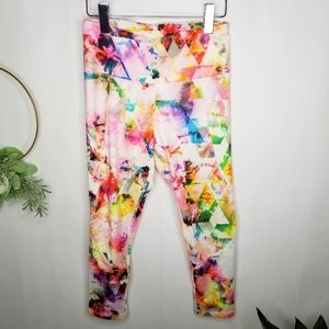 RBX Watercolor Abstract Print Leggings